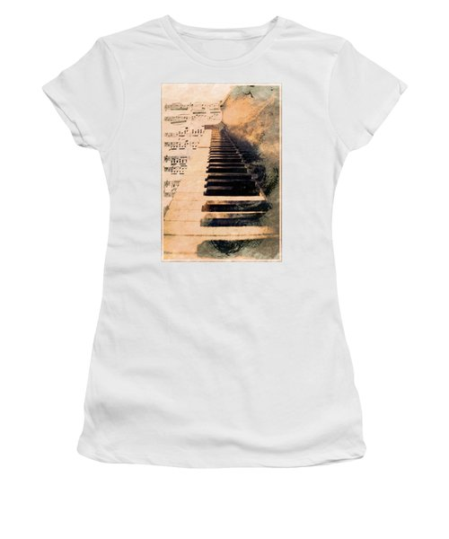 Women's T-Shirt (Athletic Fit) featuring the photograph Keys To Greatness  by Aaron Berg