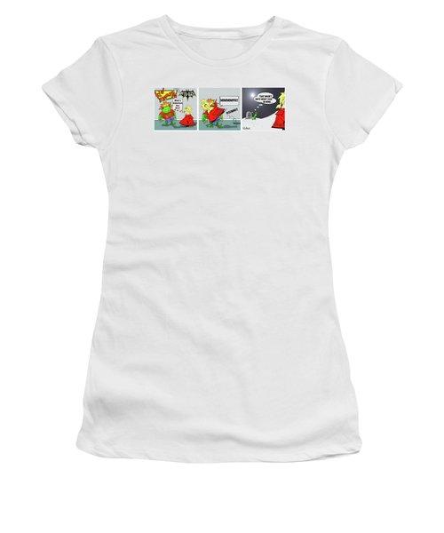 Kid Monsta Triptych 3 Women's T-Shirt (Athletic Fit)