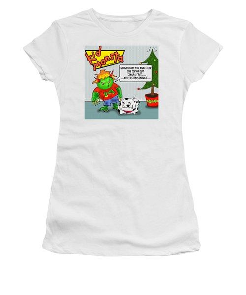 Kid Monsta Xmas 1 Women's T-Shirt (Athletic Fit)