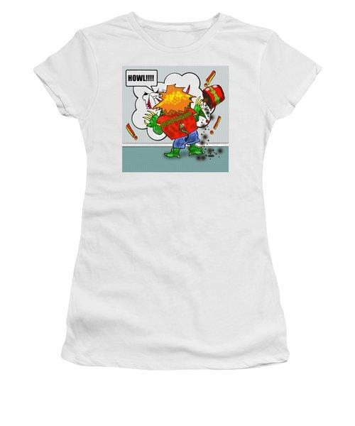 Kid Monsta Xmas 2 Women's T-Shirt (Athletic Fit)