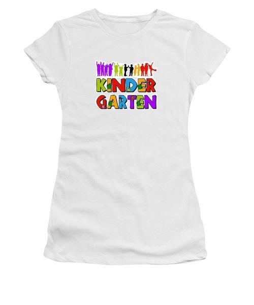 Kids Kindergarten Women's T-Shirt (Athletic Fit)
