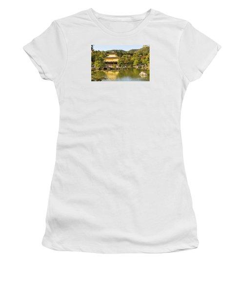 Women's T-Shirt (Junior Cut) featuring the photograph Kinkakuji by Pravine Chester