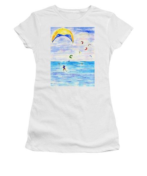 Kite Surfer Women's T-Shirt (Athletic Fit)