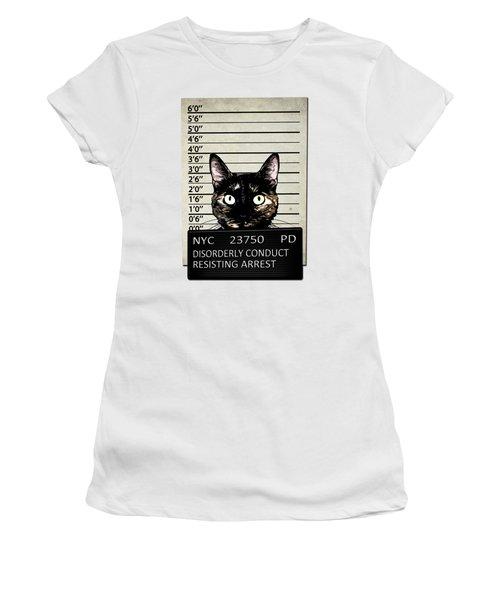 Kitty Mugshot Women's T-Shirt (Athletic Fit)