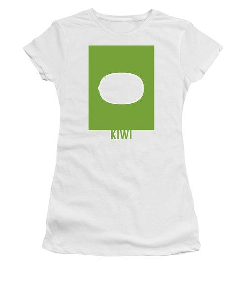 Kiwi Food Art Minimalist Fruit Poster Series 020 Women's T-Shirt (Athletic Fit)