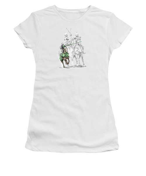 Knight Time - Renaissance Medieval Print Color Tinted Women's T-Shirt (Athletic Fit)