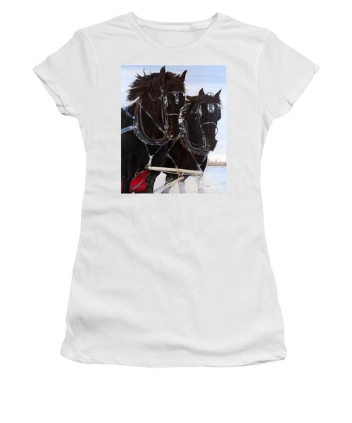 Knights On Four Women's T-Shirt (Athletic Fit)