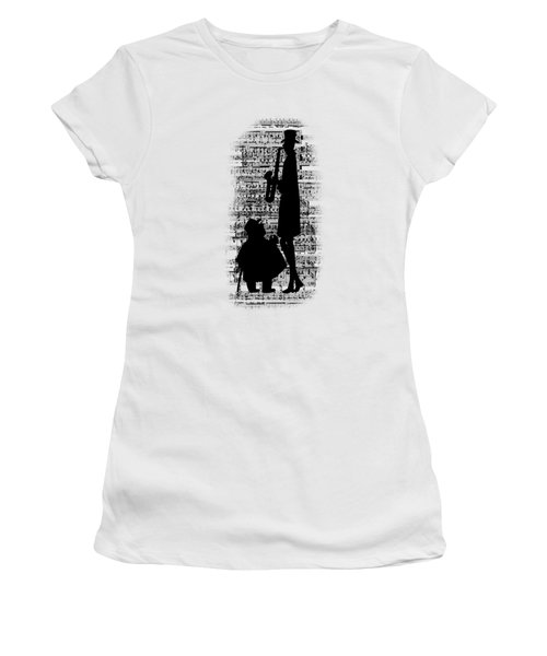 Women's T-Shirt featuring the digital art Knowing The Score Transparent Background by Barbara St Jean