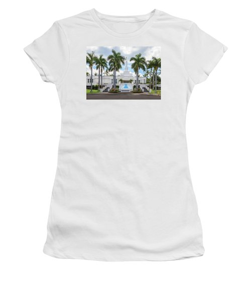 Kona Hawaii Temple-day Women's T-Shirt (Athletic Fit)