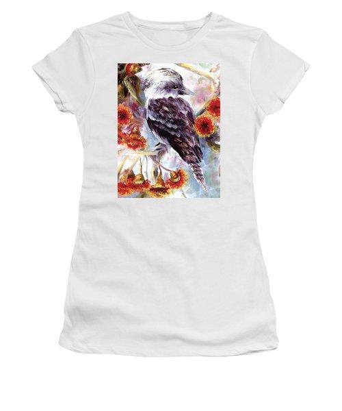 Kookaburra In Red Flowering Gum Women's T-Shirt