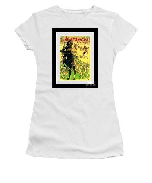 L Hippodrome 1905 Parisian Art Nouveau Poster II Manuel Orazi 1905 Women's T-Shirt (Athletic Fit)
