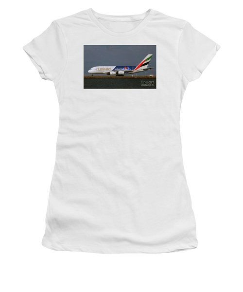 La Dodgers A380 Ready For Take-off At Sfo Women's T-Shirt (Athletic Fit)