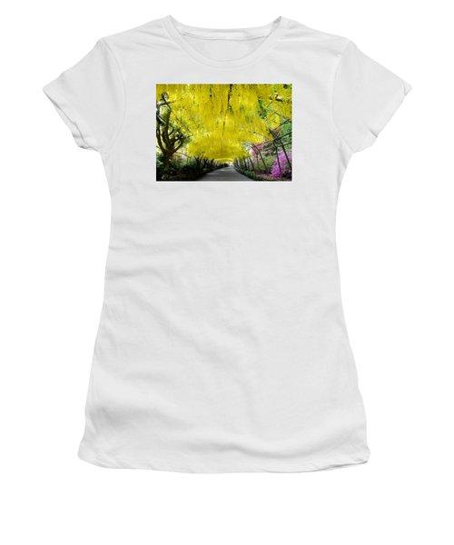 Laburnum Arch, Bodnant Garden Women's T-Shirt (Athletic Fit)