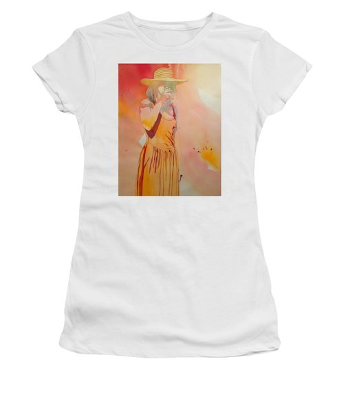 Lady In Yellow Women's T-Shirt (Athletic Fit)