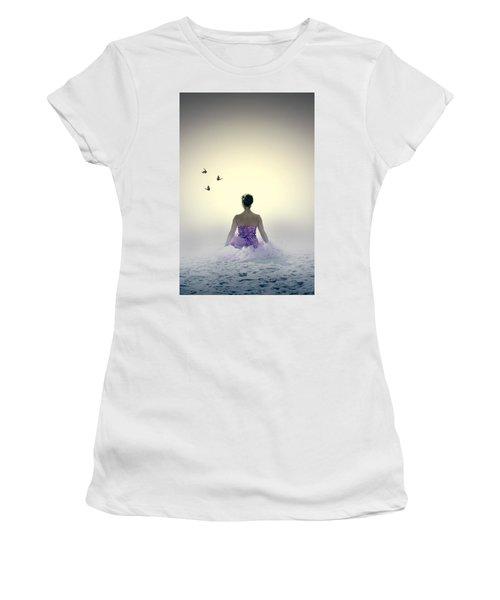 Lady On The Beach Women's T-Shirt