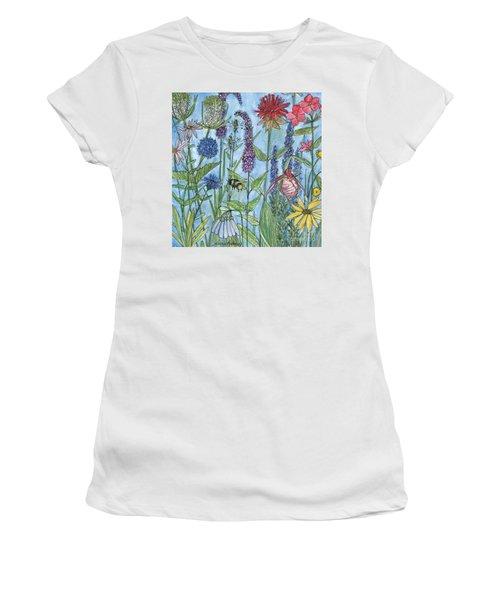 Lady Slipper In My Garden  Women's T-Shirt