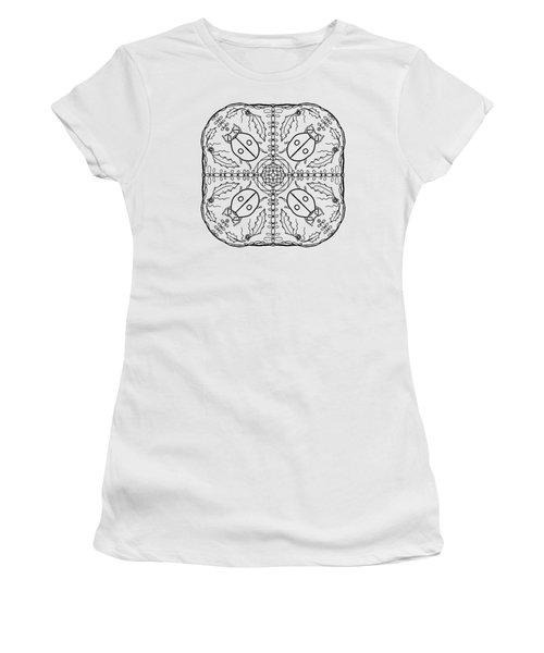 Ladybug Mandala Women's T-Shirt (Junior Cut) by Tanya Provines