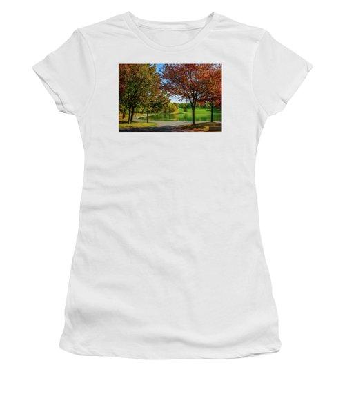 Lagoon Park In Montreal Women's T-Shirt