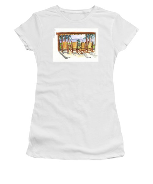 Lake Lodge Women's T-Shirt (Athletic Fit)