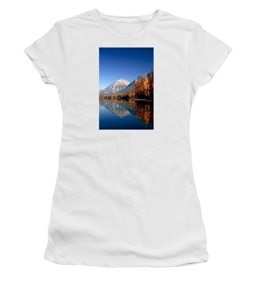 Lake Mcdonald Autumn Women's T-Shirt (Junior Cut) by Lawrence Boothby