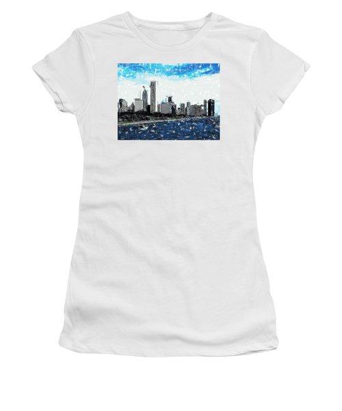 Lake Michigan And The Chicago Skyline Women's T-Shirt