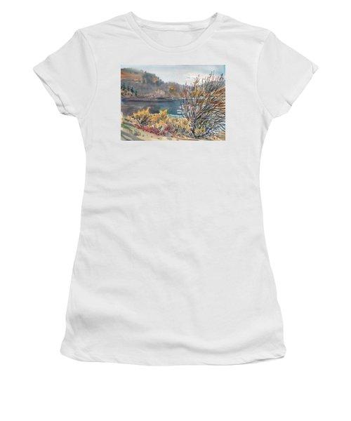 Lake Roosevelt Women's T-Shirt (Junior Cut) by Donald Maier