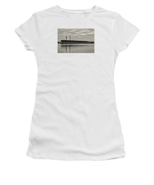 Lake Superior Oar Dock Women's T-Shirt (Junior Cut) by Dan Hefle