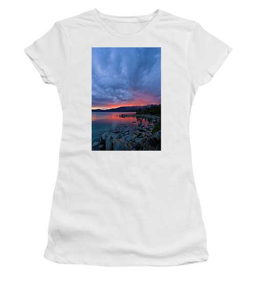 Lake Tahoe Sunset Portrait 2 Women's T-Shirt