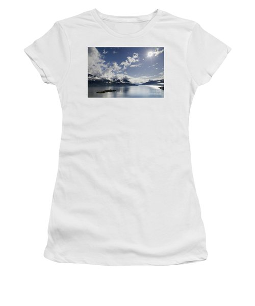 Lake With Islands Women's T-Shirt (Athletic Fit)