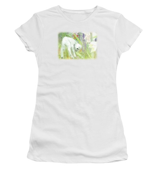 Lamb And Lilies Women's T-Shirt (Athletic Fit)