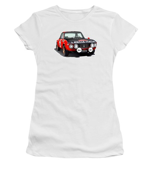 Lancia Fulvia Hf Illustration Women's T-Shirt (Athletic Fit)
