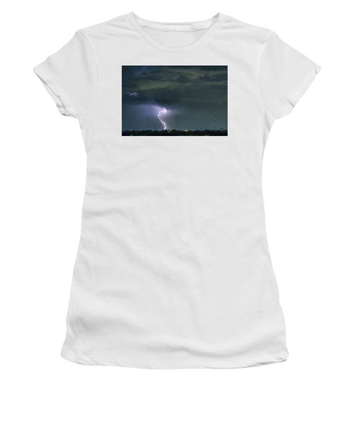 Women's T-Shirt (Junior Cut) featuring the photograph Landing In A Storm by James BO Insogna