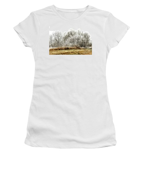 Landscape In Winter Women's T-Shirt