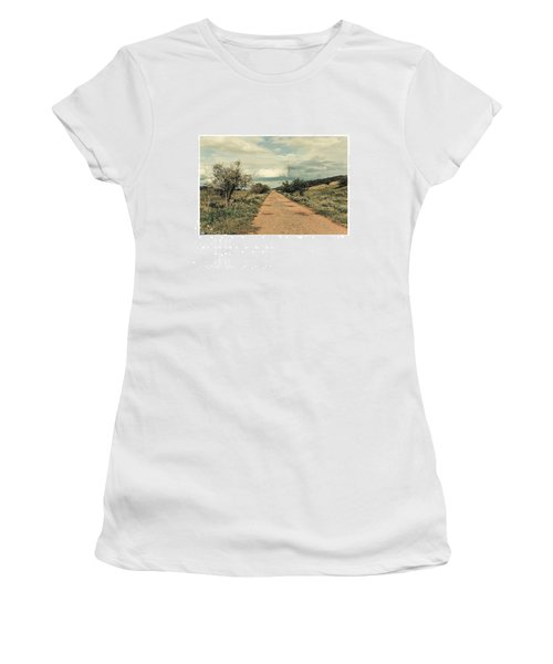 #landscape #stausee #path #road #tree Women's T-Shirt (Athletic Fit)