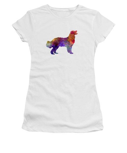 Landseer In Watercolor Women's T-Shirt