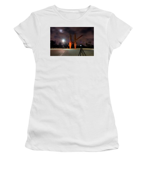 Women's T-Shirt featuring the photograph Last Night In The Park by Dubi Roman