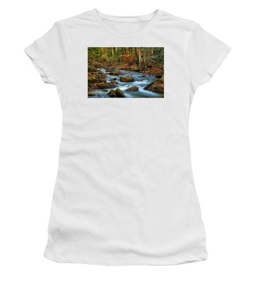 Laurel Fork In The Fall Women's T-Shirt (Athletic Fit)