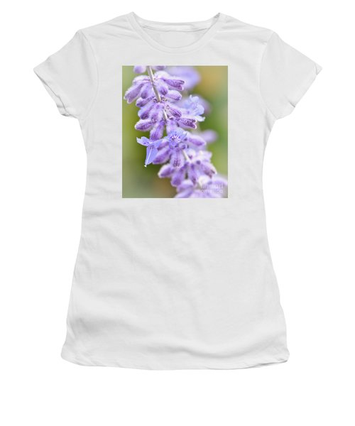 Women's T-Shirt (Athletic Fit) featuring the photograph Lavender Blooms by Kerri Farley