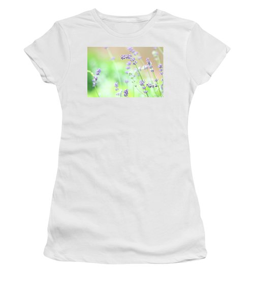 Lavender Garden Women's T-Shirt (Athletic Fit)