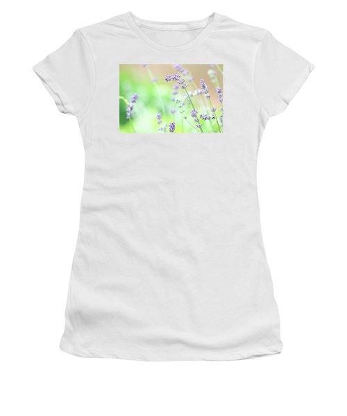 Lavender Garden Women's T-Shirt (Athletic Fit)