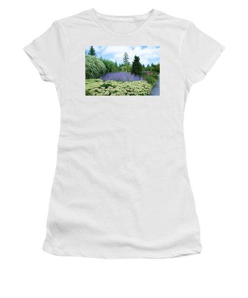 Lavender In The Middle Women's T-Shirt (Junior Cut) by Lois Lepisto