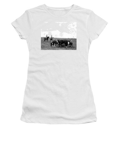 Lbj & Humphrey On Horseback Women's T-Shirt