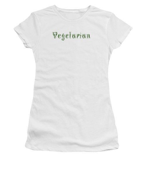 Leafy Green Vegetarian Women's T-Shirt (Junior Cut) by Nola Lee Kelsey