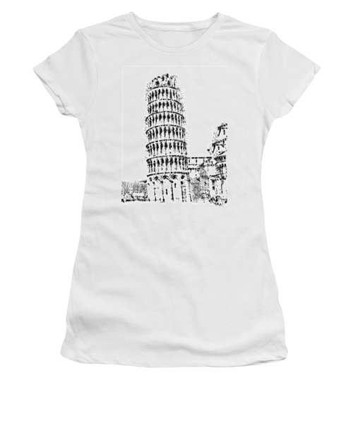 Leaning Tower Of Pisa Women's T-Shirt (Junior Cut) by ISAW Gallery