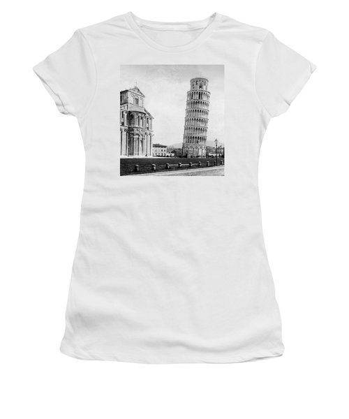 Leaning Tower Of Pisa Italy - C 1902  Women's T-Shirt (Athletic Fit)