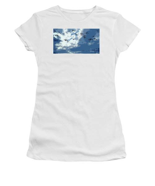 Leaving The Snow Behind Women's T-Shirt (Athletic Fit)