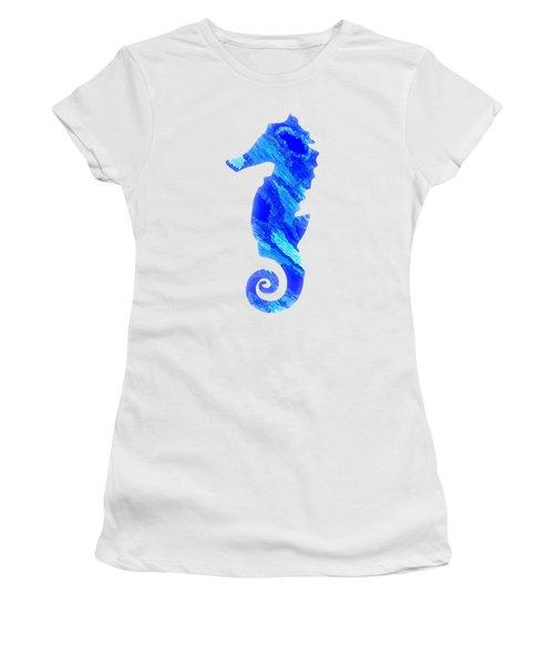 Left Facing Seahorse Bt Women's T-Shirt