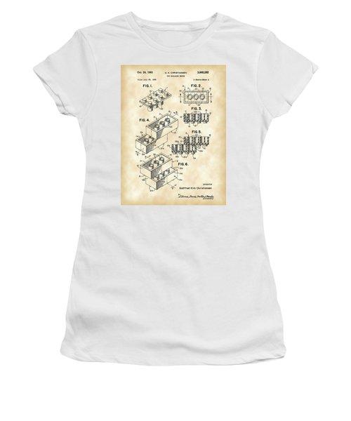 Lego Patent 1958 - Vintage Women's T-Shirt (Athletic Fit)