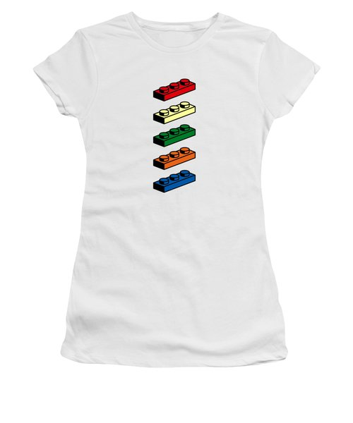 Women's T-Shirt (Junior Cut) featuring the photograph Lego T-shirt Pop Art by Edward Fielding