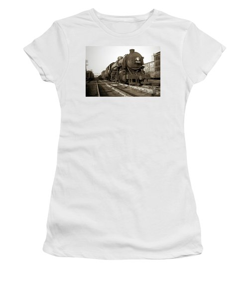 Lehigh Valley Steam Locomotive 431 At Wilkes Barre Pa. 1940s Women's T-Shirt (Athletic Fit)